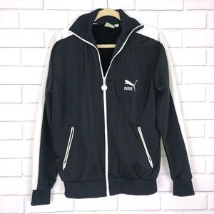 VINTAGE PUMA Black track jacket Sz Large